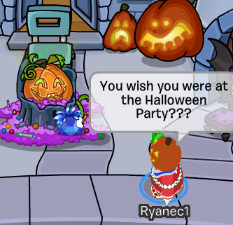 Crystal Puffle Halloween Party